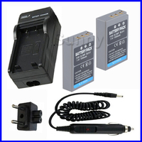 Battery (2 Pack) + Charger for Olympus BLS 5, BLS5 and Olympus OM D E M10, PEN E PL2,E PL5,E PL6, E PM2, Stylus 1 Digital Camera