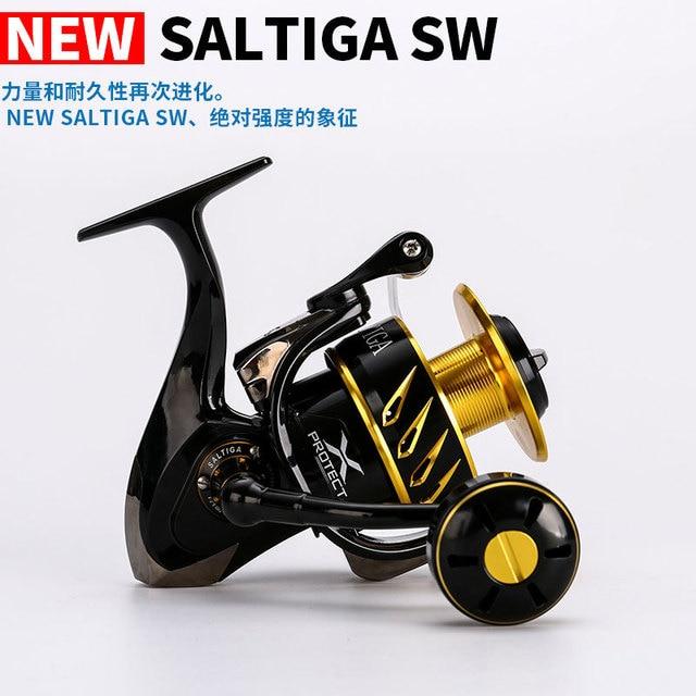 New Madmouse Japan Made Saltiga SW4000XG SW6000HG CW10000HG Spinning Jigging Reel Spinning reel 12BB Alloy reel 35kgs drag power