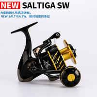 Nuovo Madmouse Giappone Fatto Saltiga SW4000XG SW6000HG SW10000HG Spinning Jigging Bobina bobina di Filatura Lega di 12BB bobina di 35kgs resistenza di potenza