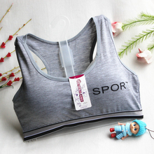 Teenage Girls Training Bras New Arrival Student Sport Wireless Bras Children Cotton Tank Tops Teens Underwear Solid GB02