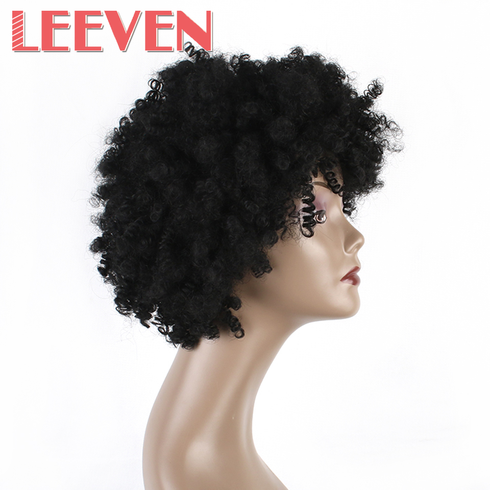 Aliexpress Com Buy Leeven 6 Quot Afro Kinky Curly Synthetic