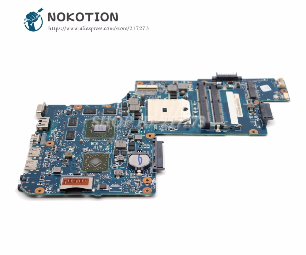 NOKOTION For Toshiba Satellite L850D C850D Laptop Motherboard H000050830 Main board Socket FS1 DDR3 HD7670M Video card nokotion h000041530 laptop motherboard for toshiba satellite l850d c850 c855 plac csac uma main board socket fs1 ddr3