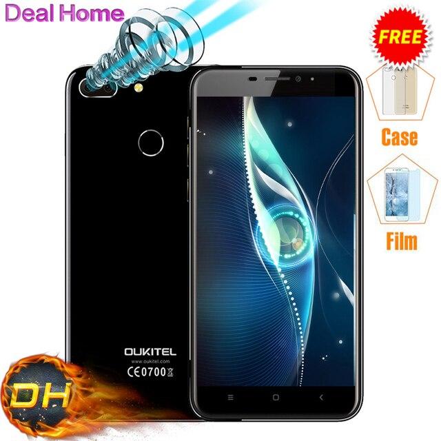 "Case)gift!Original Oukitel U20 Plus Dual Camera 4G LTE Android 6.0 5.5"" FHD MTK6737T Quad Core Fingerprint ID 13MP Smartphone"