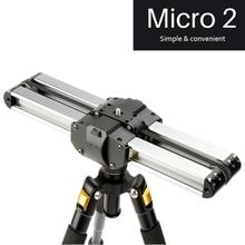Микро 2 Профессиональный мини портативный смартфон камера Видео слайдер 33 см Макро дорожный трек слайдер Долли рельс параллельная съемка