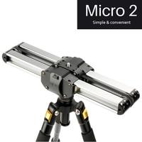 Micro 2 Professional mini portable Smartphone Camera Video Slider 33cm Macro Travel Track Slider Dolly Track Rail parallel shoot