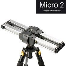 Micro 2 Professionale mini Smartphone portatile Della Macchina Fotografica Video Slider 33 centimetri Macro Traccia di Viaggi Slider Dolly Binario parallelo sparare