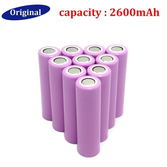 2016 Hot!! 18650 3.7V battery 2600mAh 18650 rechargeable li-ion Battery For ICR18650-26F ICR18650 26F 2600 mAH batteries 10Pcs