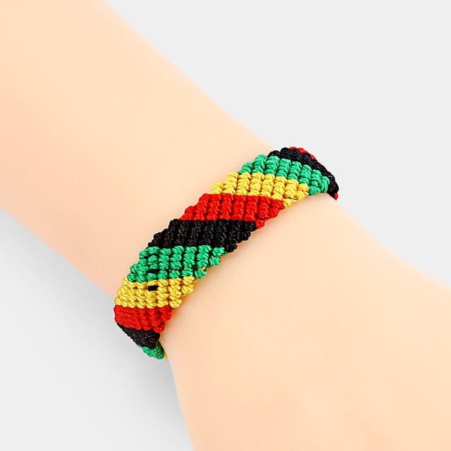 Bracelet Brésilien Couleur Rasta