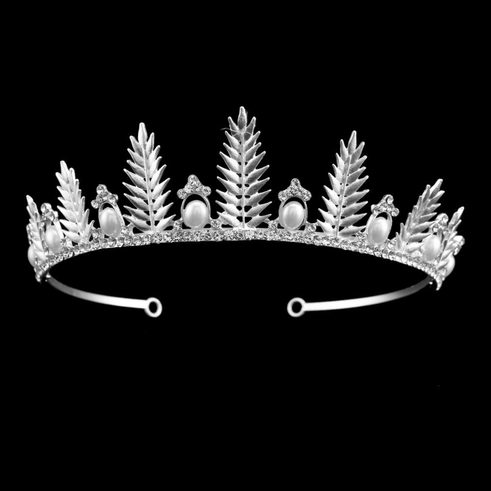 Trendy bridal headpiece - New Trendy Crystal Bridal Tiara Women S Prom Headband Rhinestone Simulated Pearl Crowns For Bride Wedding