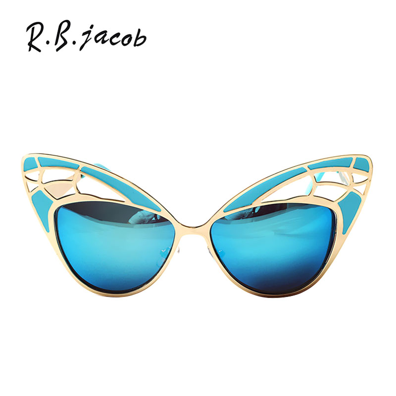 50S Vintage Party Fashion Oversized Butterfly Wing Shapes Cat Eye Sunglasses Women Mirror Shades Retro Sun Glasses Female UV400
