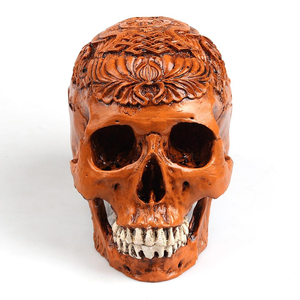 P flame egypt skull model resin handicraft vintage home decor skeleton customizable life size 1 - Domestication home decor model ...