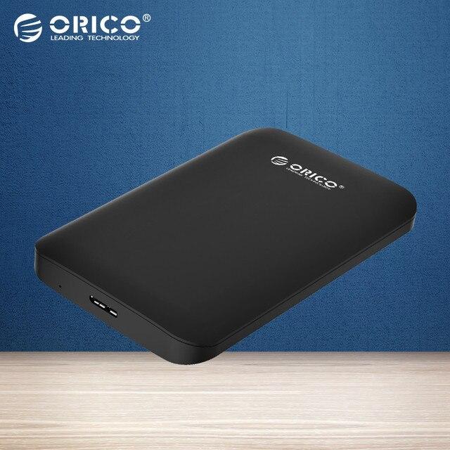 """ORICO 2589S3-BK UASP Apoyo SATA3.0 2.5 Pulgadas USB 3.0 Duro unidad de Disco DURO HDD Externo Caja Caso para 9.5mm 7mm 2.5 """"SATA HDD, SSD"""