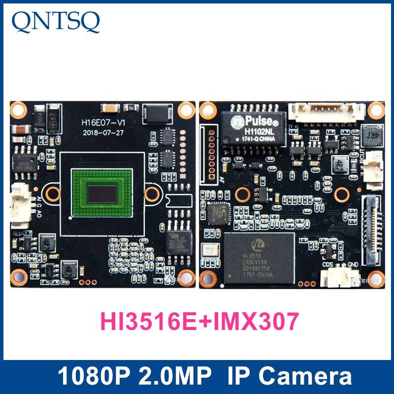 IP Camera 1080P 2MP,Sony IMX307+HI3516E CMOS Module,IP PCB Board DWDR+ONVIF, H.264 H.265 IP Camera.IMX307