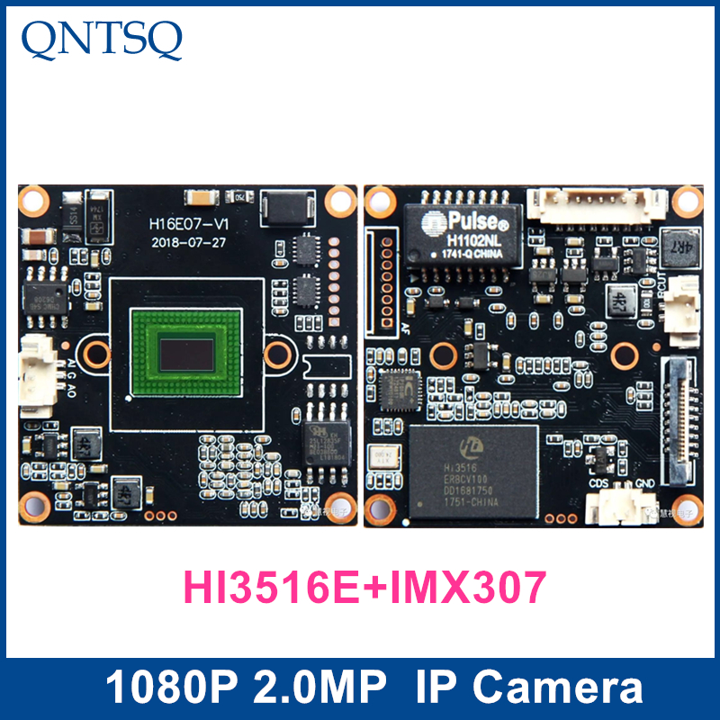 IP Camera 1080P 2MP,Sony IMX307+HI3516E CMOS Module,IP PCB board DWDR+ONVIF, H.264 H.265 IP Camera.IMX307 image