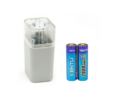 2pcs KENTLI <font><b>1.5v</b></font> 3000mWh Li-polymer li-ion <font><b>lithium</b></font> rechargeable <font><b>AA</b></font> PH5 <font><b>battery</b></font> batterie + 4 slots <font><b>Charger</b></font> w/ LED flashlight image