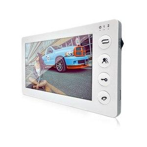 Image 4 - Dragonsview7 אינץ מקורה צג וידאו דלת טלפון אינטרקום מערכת עם הקלטת זיהוי תנועה לבן רינגטונים MP3 MP4