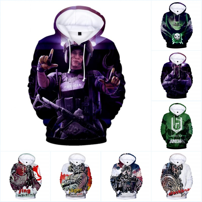Rainbow Six Siege Men Women Hoodies Sweatshirt Fashion 3D Print Warm Harajuku Men's Hoodies Game Jacket Hoodie Streetwear