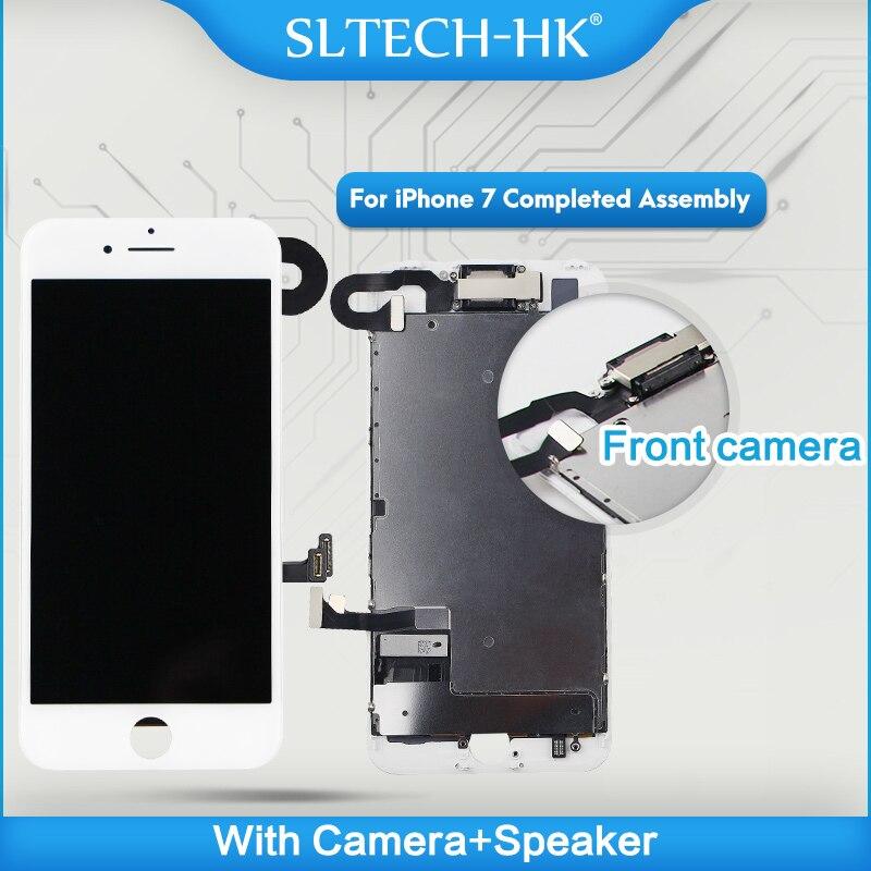 Conjunto completo para iphone 7 lcd concluído com câmera alto-falante para iphone 8 plus tela de substituição com 3d touch id