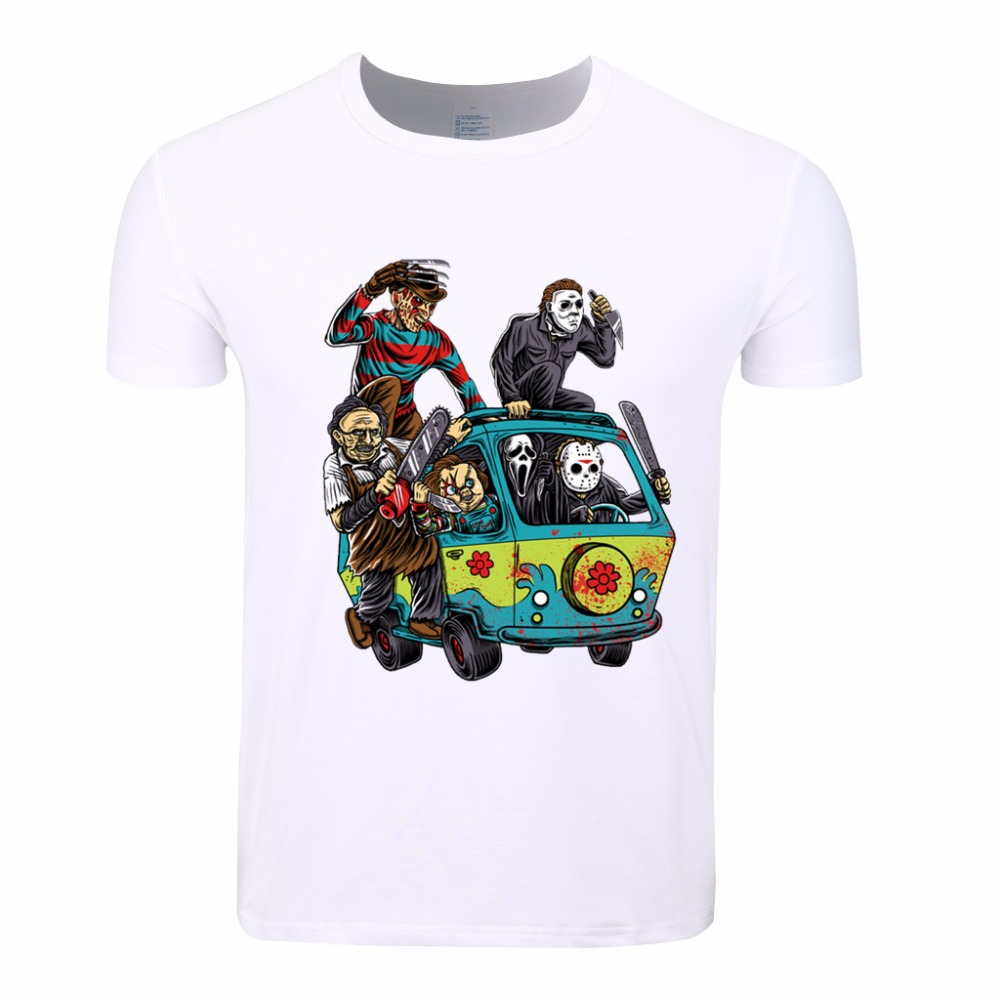 Asian Size,Men Horror Movie The Massacre Machine Printed T Shirt Sleeve O-Neck Brand T-Shirt Male Clothes Cool Hipster Top Tees