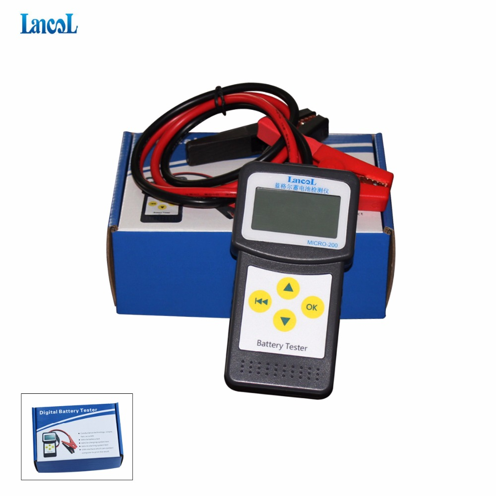 Lancol MICRO-200 Automotive Battery Analyzer Checker Battery Car Battery Measurement Unit Portable Vehicle Battery Tester new laptop battery tester full battery scanner fbs 1000 portable smallest