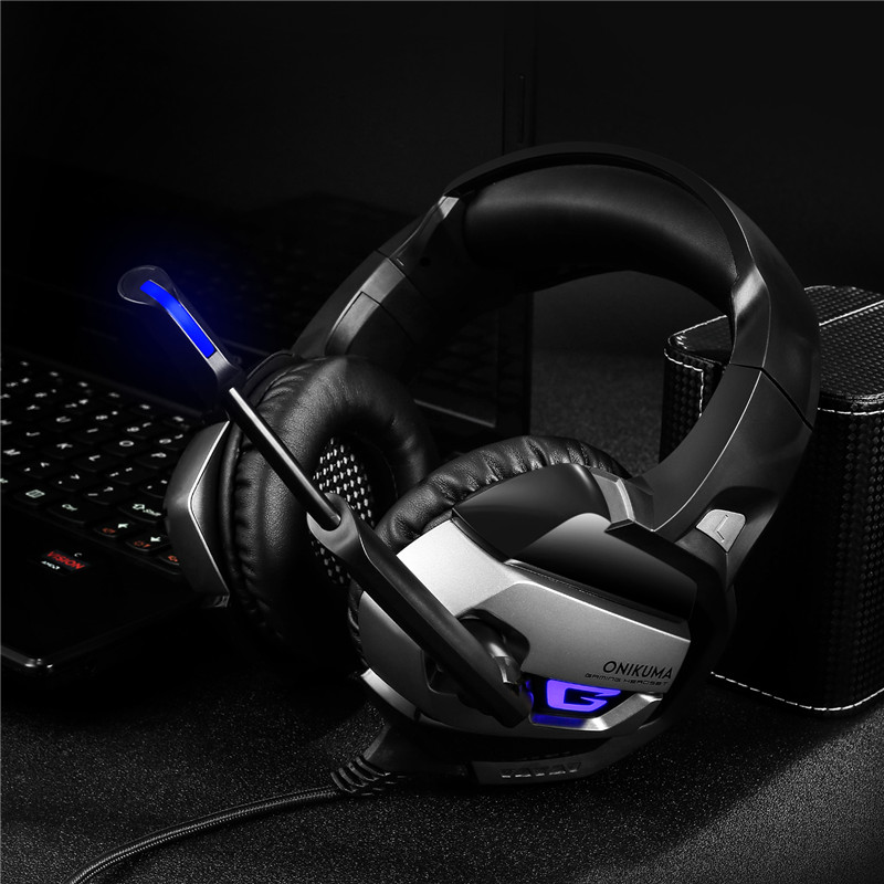 Vrme 3.5mm Stereo USB LED Headphones PC Gaming Headset Earphone with Microphone for PS4 for Computer Laptop Mac PlayStation 4 гладильная доска gimi poker