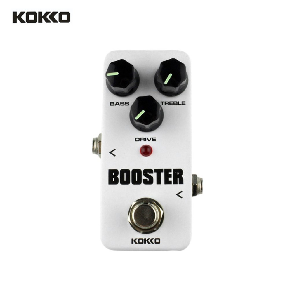 KOKKO FBS2 Booster Mini Guitar Effects Pedal Portable 2 Band EQ Electric Boost Guitar Effect Pedal True Bypass Stompbox New aeb 3 bass eq analog 5 band equalizer guitar effect pedal aroma mini single pedal effects with true bypass guitar accessories