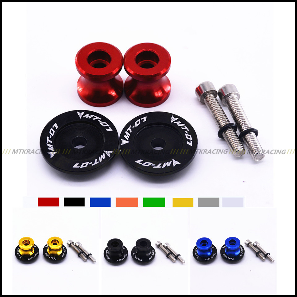 For YAMAHA MT-07 MT07 2014-2017 Red Motorcycle CNC Aluminum Swingarm Spools slider stand Screws 6mm motorcycle accessories cnc aluminum black swingarm spools slider stand screws for yamaha mt 09 tracer bmw s1000rr triumph acesso