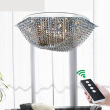 Simple modern three color LED hexagonal six creative warm bedroom study crystal lamps lighting fixture led crystal ceiling lamps(China)