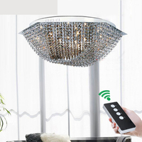 Simple modern three color LED hexagonal six creative warm bedroom study crystal lamps lighting fixture led crystal ceiling lamps