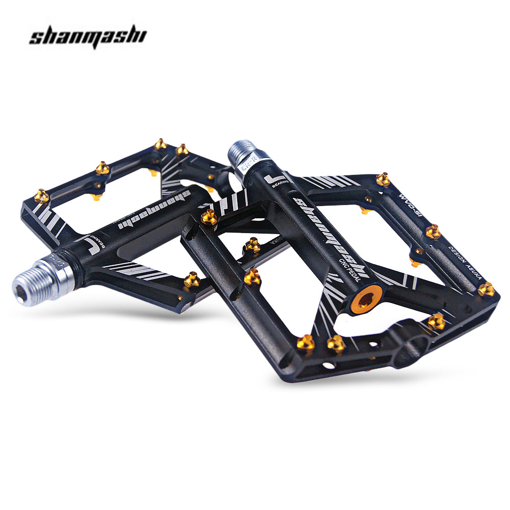 Shanmashi S1 Bicycle Pedal Anti-Slip Aluminum Alloy CNC MTB Mountain Bike Pedal Sealed Bearing Pedals Cycling Accessories