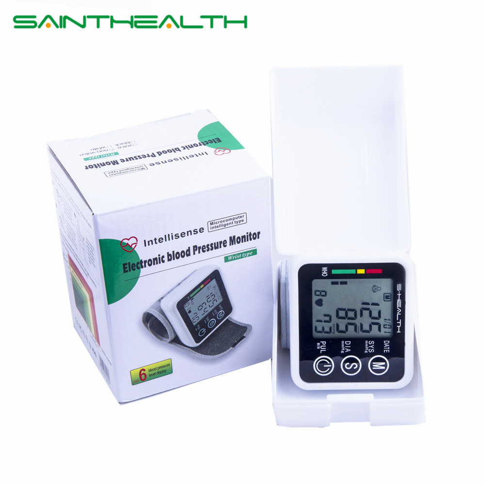 2017 New Health Care Germania Chip Automatico Da Polso Digital Blood Pressure Monitor Tonometro per la Misurazione E la Frequenza Cardiaca