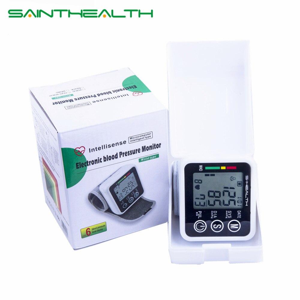 2017 Nuevo cuidado de la salud Alemania Chip muñeca Digital Monitor de presión arterial Tonometer Meter para medir y pulso