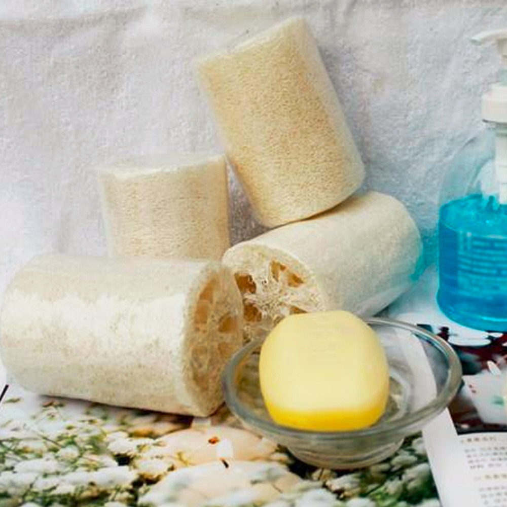 Top 1 PC Natural Loofa Bath Shower Spa Cleans Loofah Sponge Body Scrubber Horniness Remover Luffa Body Bowl Pot Washing