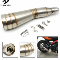 Universal Modified Motorcycle Exhaust Pipe Moto Exhaust Pipe For SUZUKI DL650 SV650 GSR GSXR 600 750