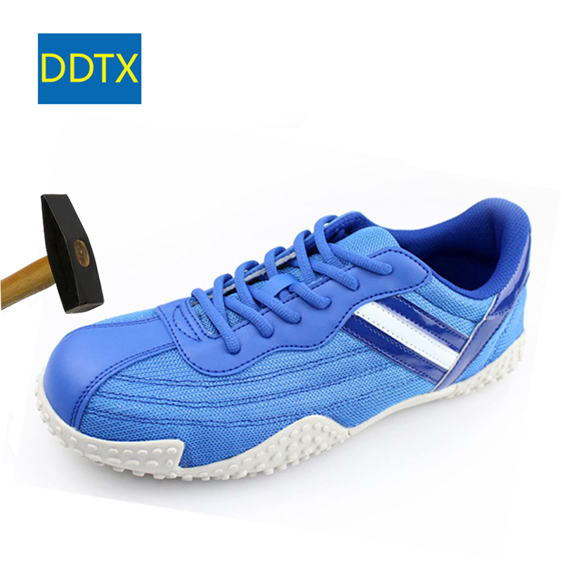 d11d850814e DDTX Summer Safety Shoes Steel Toe Lightweight Breatheable Work Shoes Men  Comfortable Sneakers Protective Outdoor Footwear Blue