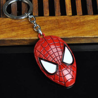 Металлический брелок Marvel, Мстители, Капитан Америка, щит, Человек-паук, Железный человек, маска, брелок, игрушки, Халк, Бэтмен, брелок, подарок, игрушки - Color: Plum