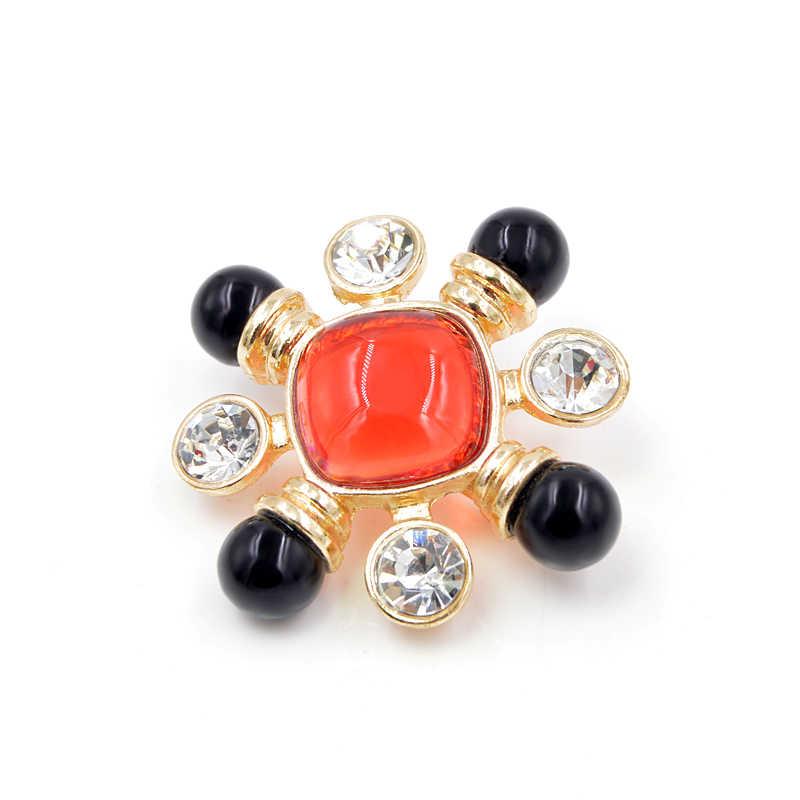 Cindy xiang resina grânulo vermelho e preto cor cruz broche pino estilo barroco jóias acessórios da forma do vintage broches de casamento