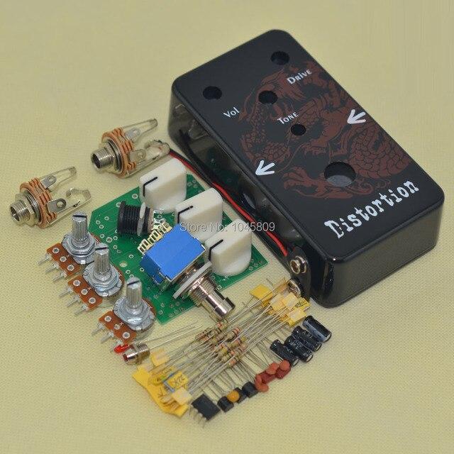 Pedal de efectos de distorsión DIY Todos los kits de derivación verdadera con el orificio del recinto de la cámara de seguridad de la cámara