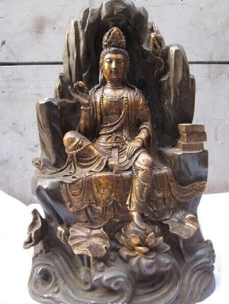 shitou 001294 17Chinese Bronze lotus Freedom Sit Bodhisattva Kwan-Yin Guan Yin Buddha Statueshitou 001294 17Chinese Bronze lotus Freedom Sit Bodhisattva Kwan-Yin Guan Yin Buddha Statue