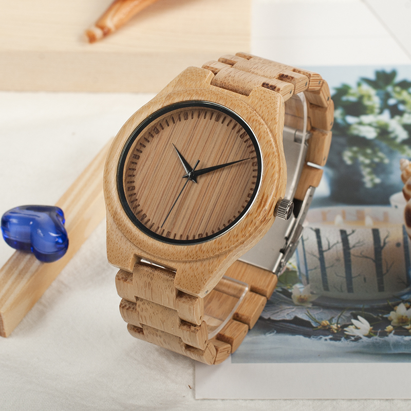 Watch Men Bamboo Bobo Bird Relogio Quartz Minister Band Taro Kono Foreign