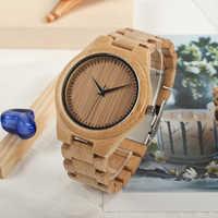 BOBO BIRD Taro Kono Ministro Japonés reloj de pulsera de cuarzo para hombre reloj de pulsera de bambú こうのたろう reloj femenino