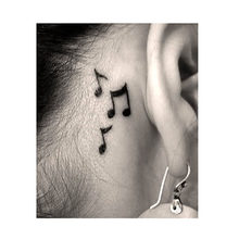 1pcs Waterproof Temporary Tattoo sticker on ear finger music note bird stars line streak henna tatto flash tatoo fake for women(China)