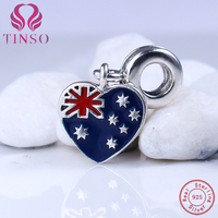 Authentic 100 925 Sterling Silver Australia Pendant Beads Fit Pandora Charms Original Bracelet For Jewelry Making