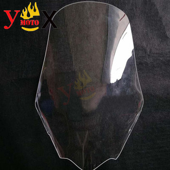 Modified Rise 60CM High Motorcycle Windscreen Windshield Front Deflector Wind Glass For Yamaha Majesty T9 MajestyT9 Clear