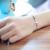 100% Sólidos 925 Sterling Silver Sideways Cruz Charm Bracelet Personalizado Gravado Polonês Bom Rolo Cadeia Pulseira do Sexo Feminino (H0003)