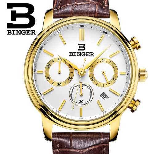 Switzerland Binger Watches Men Luxury Top Brand New Fashion Army Designer Quartz Watch Male Wristwatch relogio masculino relojes new 2017 men watches luxury top brand skmei fashion men big dial leather quartz watch male clock wristwatch relogio masculino