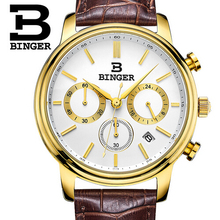 Switzerland Binger Watches Men Luxury Top Brand New Fashion Army Designer Quartz Watch Male Wristwatch relogio masculino relojes
