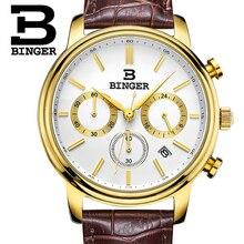 Switzerland Binger Watches Men Luxury Top Brand New Fashion Army Designer Quartz Watch Male Wristwatch relogio masculino relojes