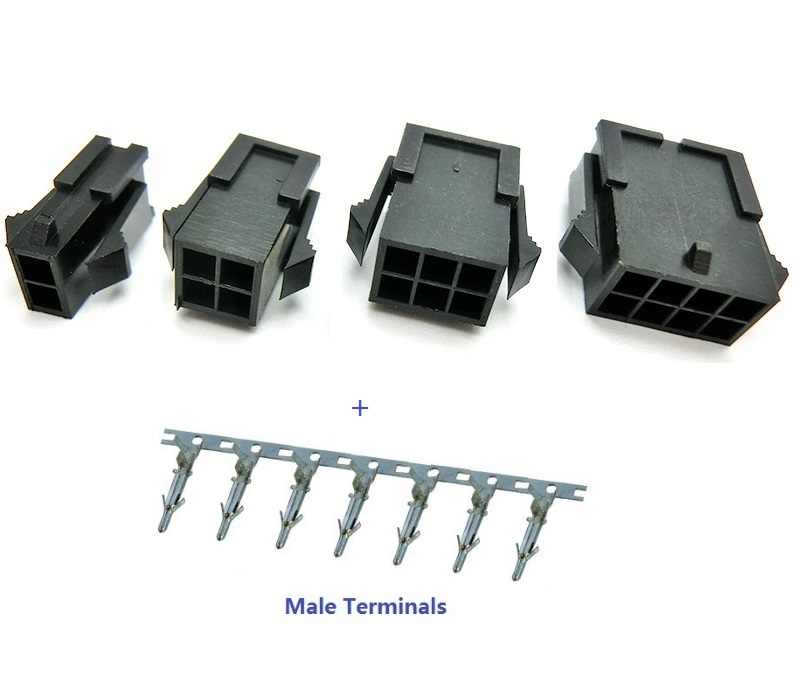 5557 Pitch 4.2mm Double-row 2x1-12P Terminals Connector Plug-in Housing No Pin