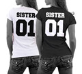 Girlfriends Shirt SISTER 01 Best Friends T-Shirt Parchen Couple Liebe Freundinnen Partner Tops Tee